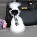Tide Fun Charm Fur Bag Pendant figure karlito Real raccoon Key Chain High-end Auto Pendant Fashion Handbag Accessories