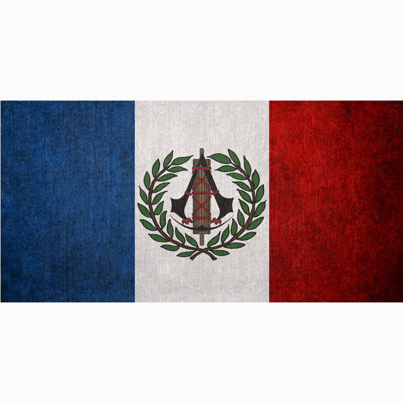 French Flag Yoga Mat Travel Blanket