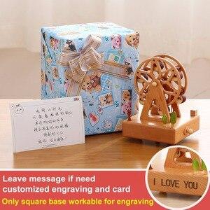 Image 5 - 우드 뮤직 박스 caja 뮤지컬 나무 상자 소녀 시계 공예 무료 새겨진 생일 선물 홈 인테리어 액세서리 YYH MZ