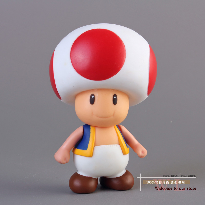 Free Shipping Super Mario Bros Mushroom Toad PVC Action Figure Model Toy SMFG229 ems shipping 12 sets cute super mario game mario luigi brothers set pvc action figure collection model dolls toy 3pcs per set