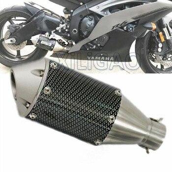 Silenciador modificado para motocicleta, tubo de Escape de acero inoxidable GY6 Scooter ATV Pit Bike Escape Moto Spring CBR125 ER6N CB400 AK002