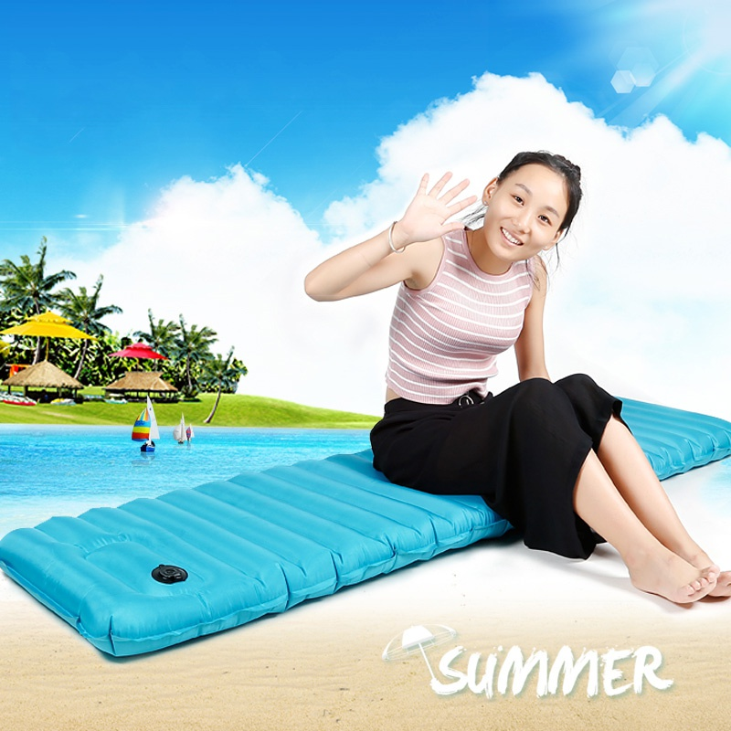 Outdoor Camping Hiking Portable Inflatable Cushion Bag Fast Filling Air Moisture Proof Camping Air Mattress