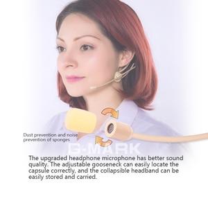 Image 2 - G MARK auriculares/micrófono para sistema inalámbrico, cascos profesionales plegables con caja de embalaje para parabrisas