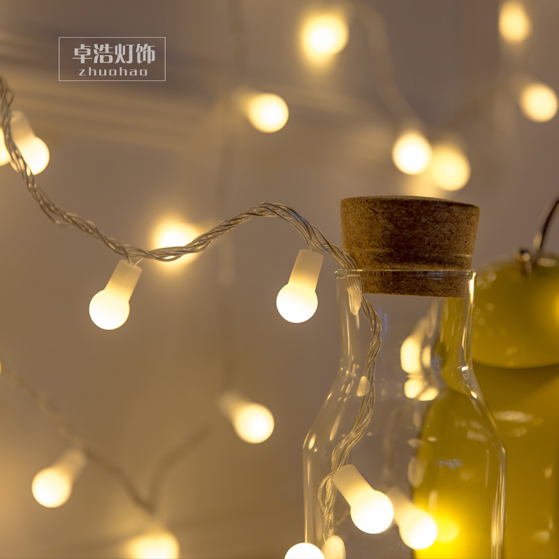LED 50M 500L string lights flashing holiday decorations, outdoor window waterproof lamp. Bedroom multicolour night string light