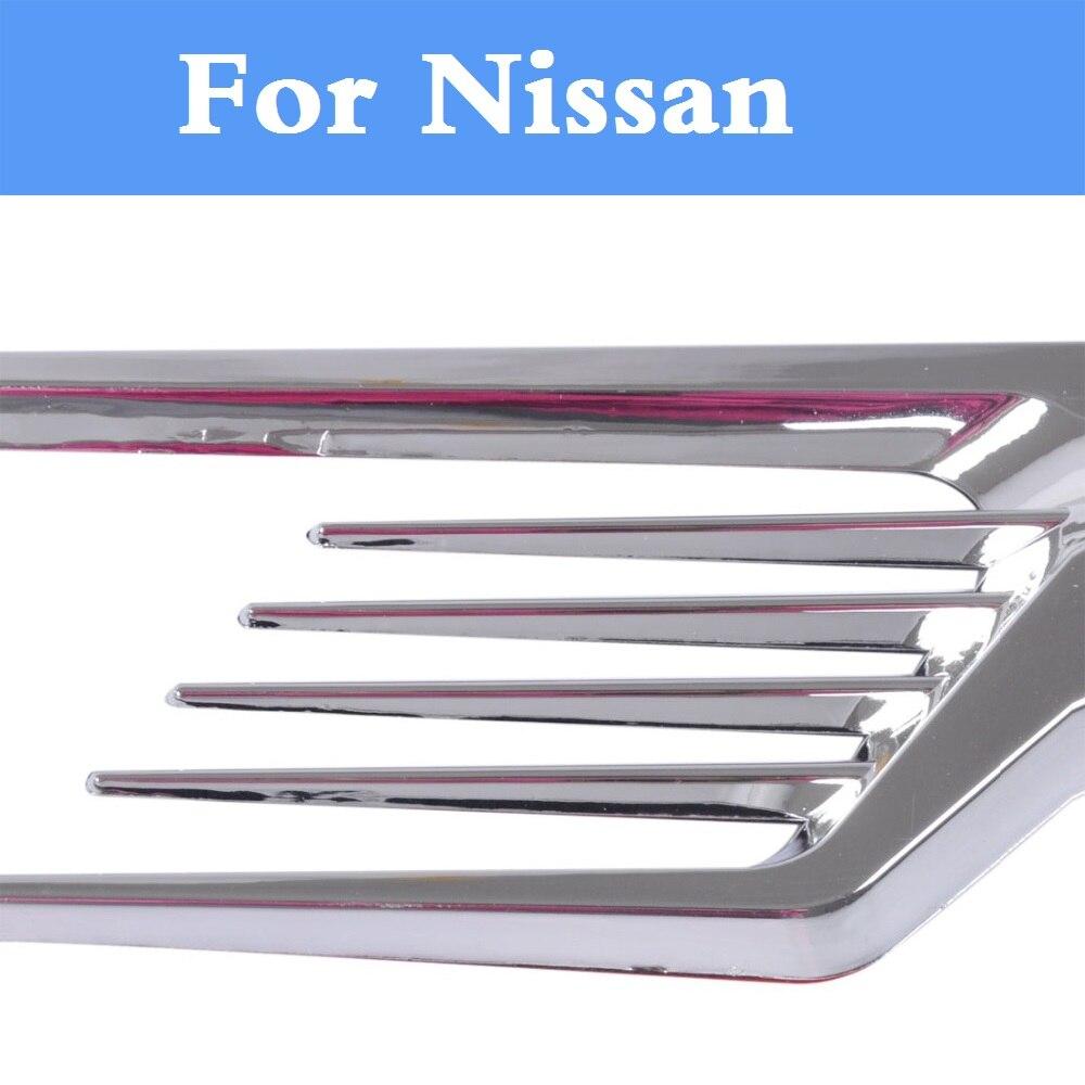 Chrome Auto Side Decorative Air Vent Fender Cover Sticker for Nissan 350Z 370Z AD Almera Classic Altima Armada Avenir Juke Nismo