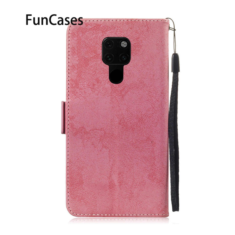 Casos de telefone Para capa Huawei Companheiro 20 Lite Casa Do Vintage Capa de Silicone Huawei Companheiro funda 20 sFor Luxo Pro X caso do Livro de Couro PU