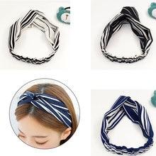 цена на Hair Accessories Turban Twist Cross Summer Chiffon Headband Women Hairband Headwrap Girls Floral Striped Knot Hair Band Headwear