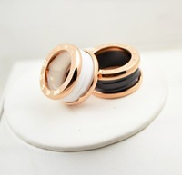 High Quality Hot Sell 3 Color Bulgaria Rings Black And White Luxury Brand Jewelry Titanium Best