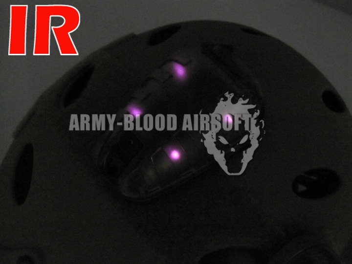 Blu-ray Core survie hel-star 6 modèle 640 avantages casque lumières flash identification survie rouge vert bleu (DE BK)