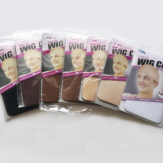 Peluca de lujo color Beige para mujer, paquete de Peluca de lujo de 36 Uds., elástica, elástica, para tejer, peluca de redecilla, tamaño libre
