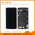 5.0 ''full display lcd + touch screen digitador de vidro + quadro assembléia capa para lg k7 tribute 5 ls675 x210 x210ds ms330; preto