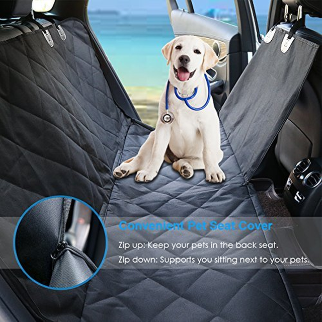 Dog Cover Hammock 600D Heavy Duty Waterproof Scratch Proof Nonslip Durable Soft Pet Back Seat Covers for Cars Trucks and SUVs 3