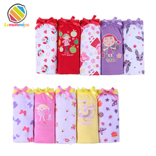 5pcs set cotton Panties For Girls Kids Short Briefs baby girl underwear children underwear child cute
