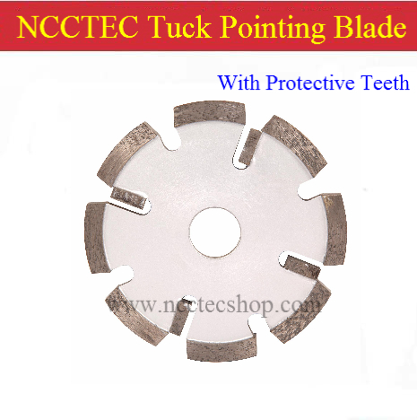 5'' Diamond Tuck Pointing Blade With Protective Teeth(10 Pcs Per Lot) / 125mm Concrete Tuck Pointing Tools /4mm Thick Segment