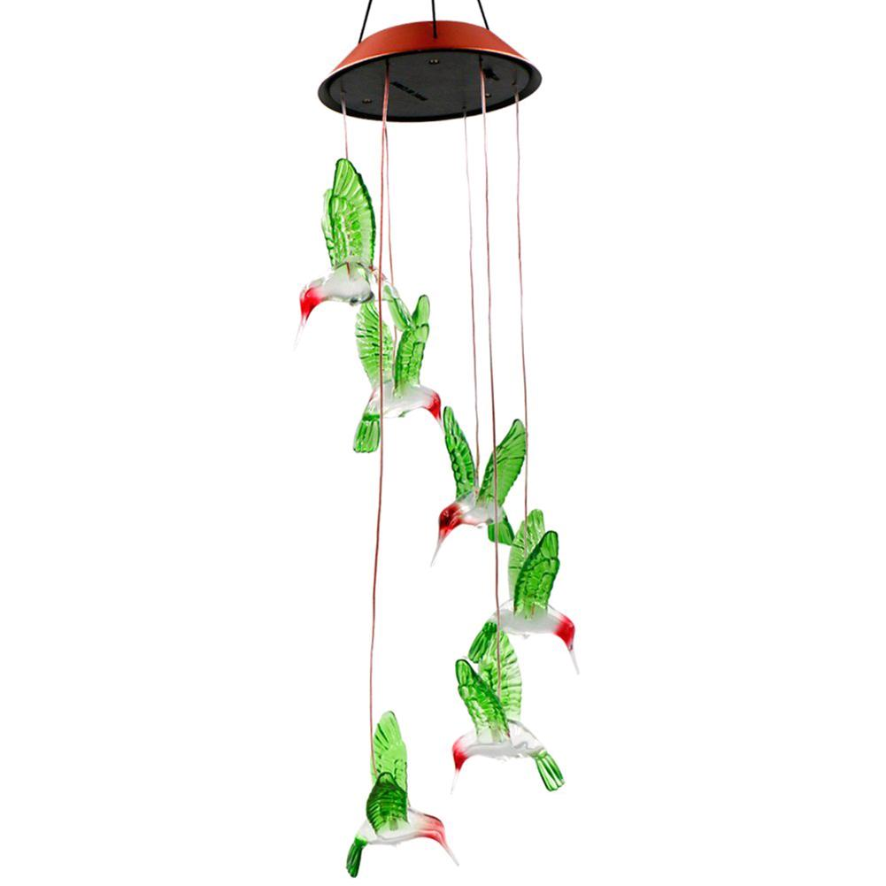 Led Solar Color Color Wind Chime Light Family Garden Light Illuminated Decorative Balcony Garden Hanging On The Window Frame