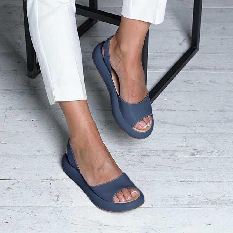 קיץ טריזי סנדלי אופנה סקסי בוהן פתוח פלטפורמת מעלית נשים סנדלי נעליים בתוספת גודל 34-43 משאבות ורוד לבן