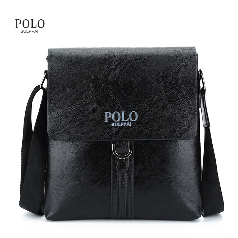 POLO Top Sell Fashion Simple Famous Brand Business Men Briefcase Bag Leather Laptop Bag Casual Man Messenger Bag Shoulder bags vicuna polo new arrival brand business men s shoulder bag square design casual men bag promotion leisure messenger bag top sell