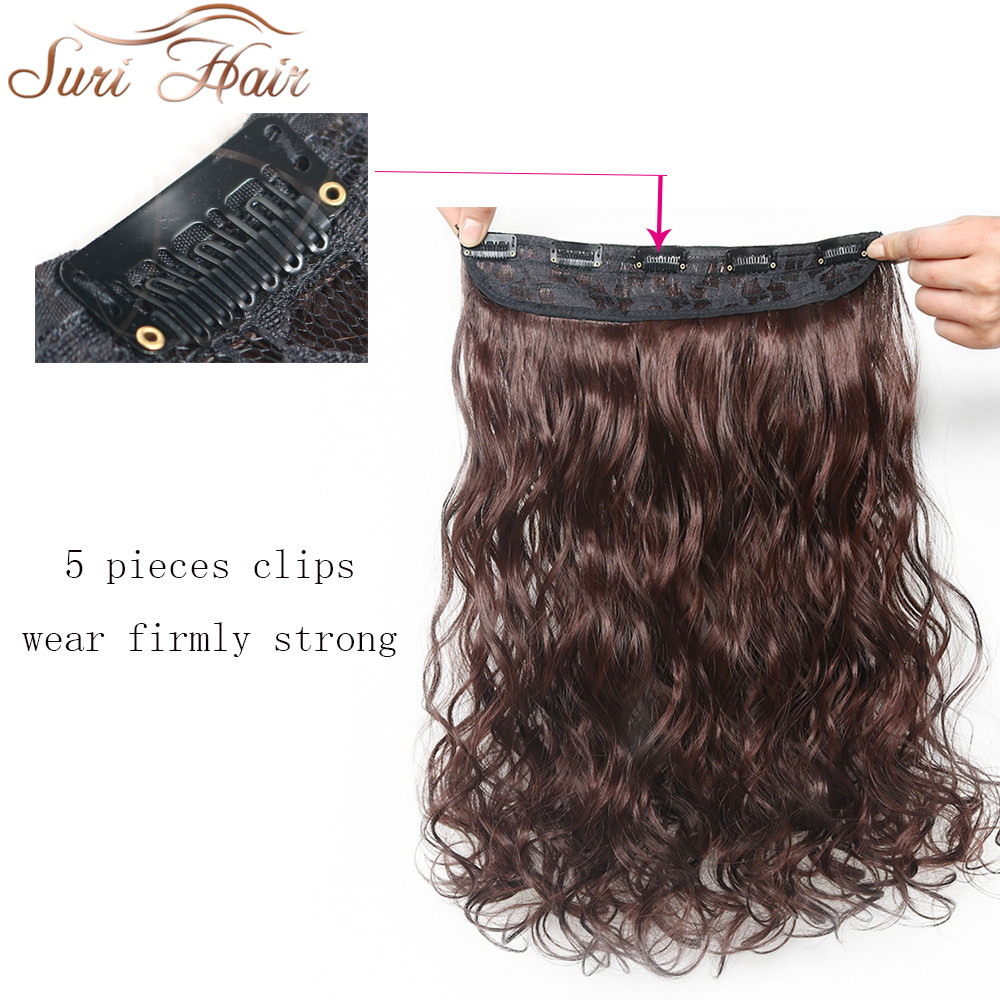 Suri Hair 24 inches 5Clips i Hair Extensions Bouncy Curly Real - Syntetiskt hår - Foto 4