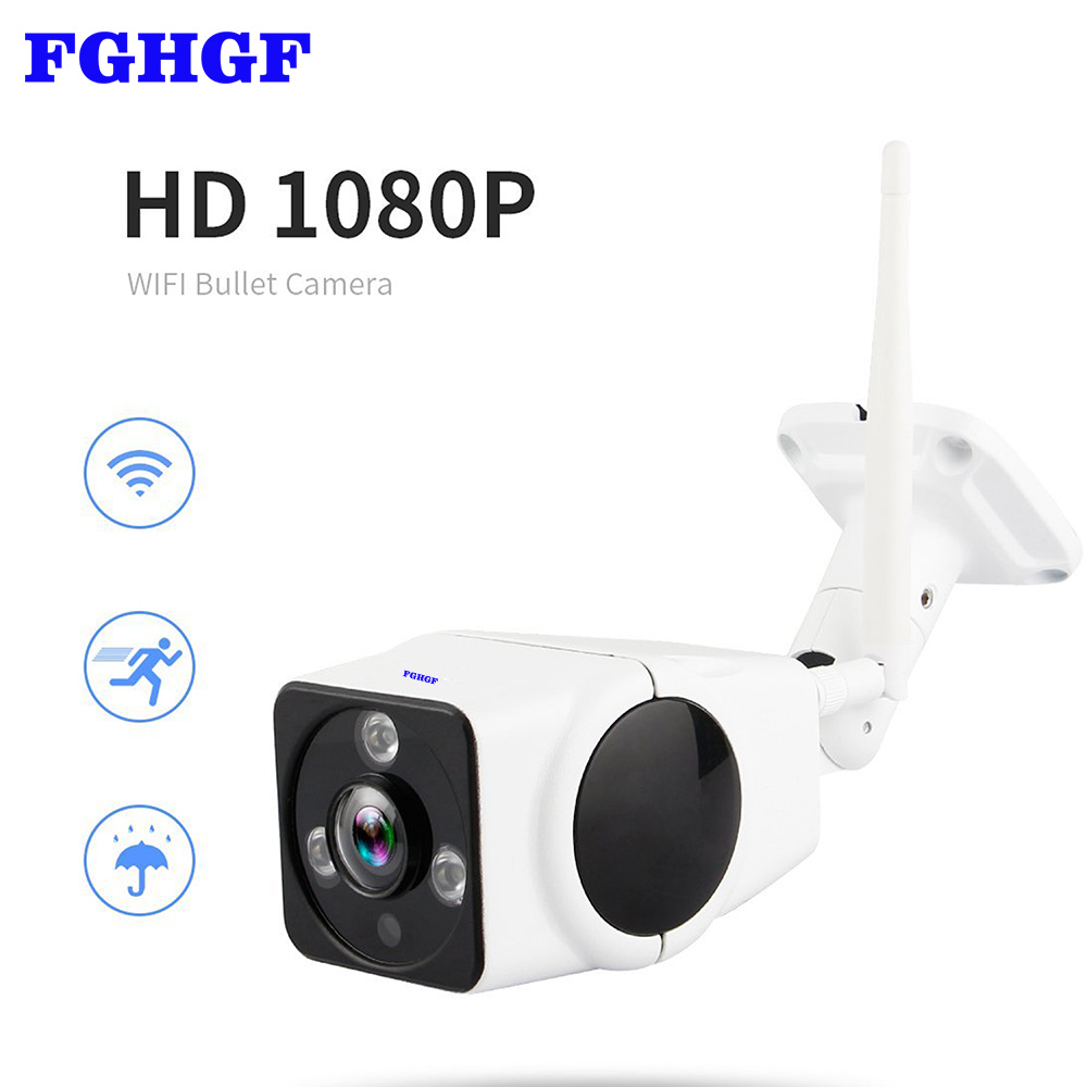 FGHGF 360 Degree Waterproof 1080P Security IP Camera Bullet Outdoor Wifi IP Camera Wireless Night Vision