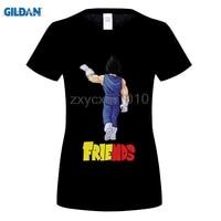 GILDAN Anime Best Friends Printwomen T Shirts Goku Vegeta T Shirts 100 180g Combed Cotton Top