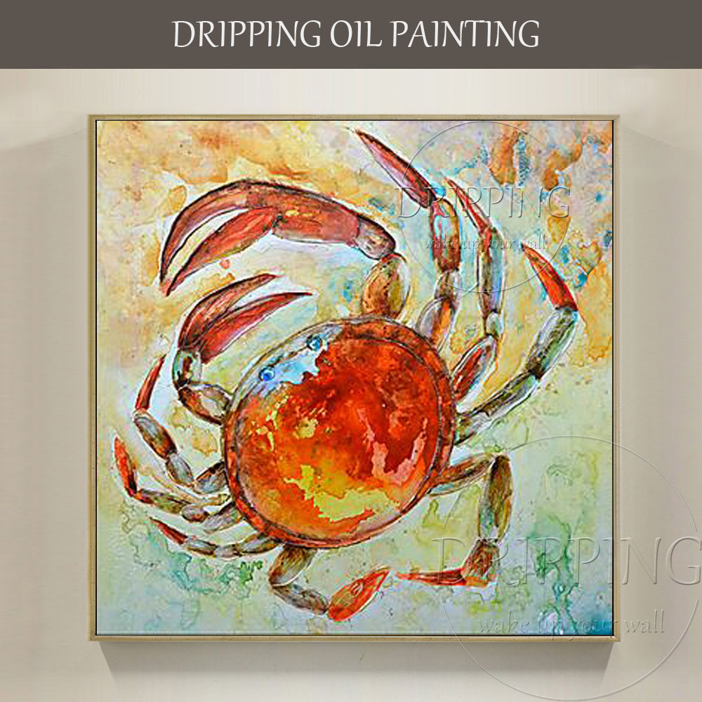 Superb Artist Hand Painted High Quality Funny Animal Crab