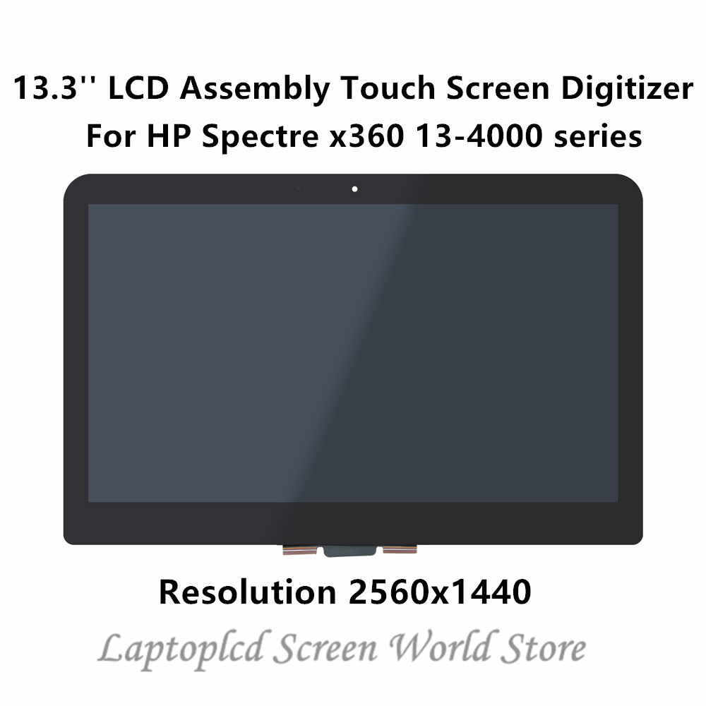 FTDLCD 13.3'' LCD Assembly Touch Screen Digitizer Laptop LQ133T1JW02 For HP Spectre x360 13 4000 series 13 4xxxx 2560x1440