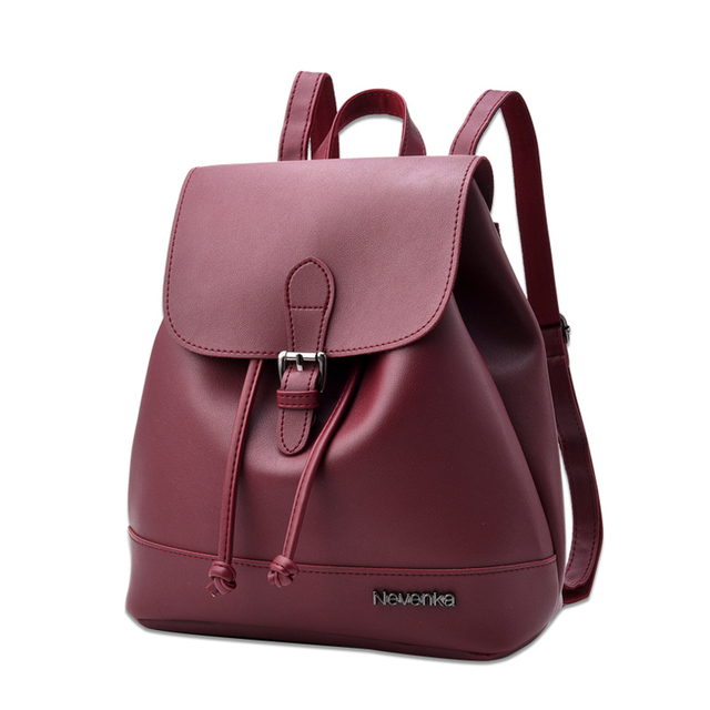 NEVNEKA Hot Sale Brand Women Fashion Backpack Female Solid Color Casual Simple Style Shoulder Bag Daily Schoolbag Bags Bao 1