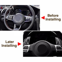 2016 Praise Steering Wheel Car Paddle Extension Shifters Change Sticker For AUDI A3 S3 A4 S4