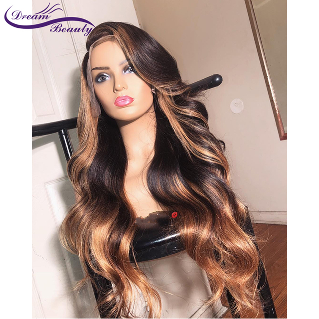 13x6 Deep part Lace Front Human Hair Wigs 180% Density Brazilian Remy Wavy Human Hair Pre-Plucked Hairline Dream Beauty 3
