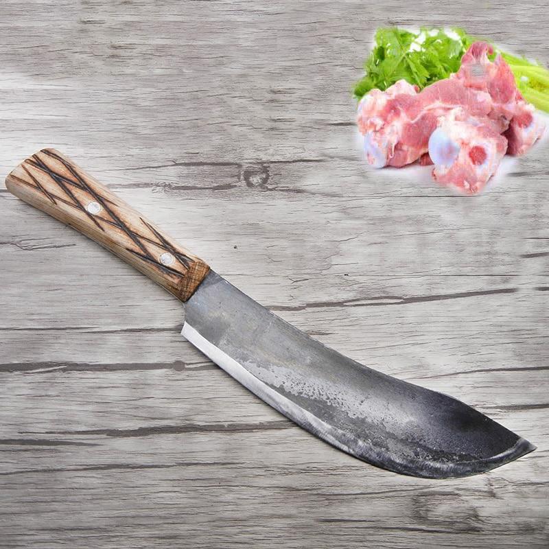 2018 Ingyenes házhozszállítás LDZ kovácsolt konyha zsigerelt csontozási kés Kézzel készített vágott hús zöldséghal főzőkések Séf szeletelő kés