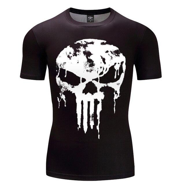 2018 最新パニッシャースーパーヒーローシャツ圧縮シャツ 3D 半袖 Tシャツフラッシュアイアンマン男性の服