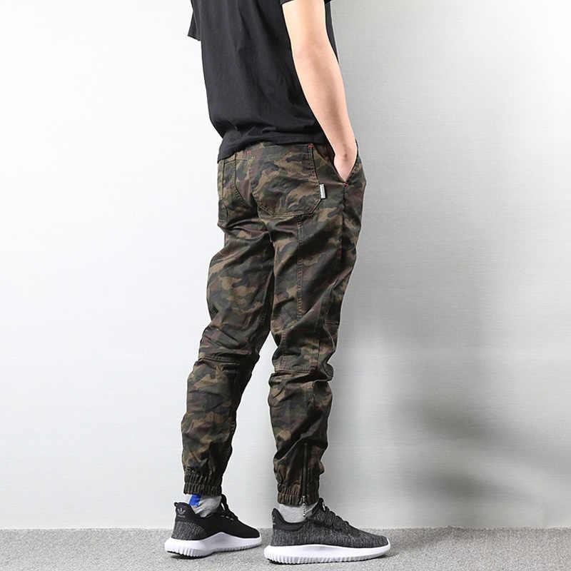 Pantalones vaqueros de jogging estilo de calle americana a la moda para hombres, pantalones Cargo camuflados, pantalones militares para hombres, pantalones del ejército para hombre, vaqueros de Hip Hop