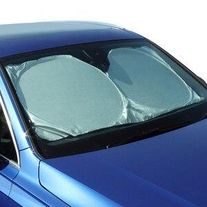 Image 2 - Parabrezza dellautomobile Anteriore Posteriore Parasole Copertura Auto Riflettente Parabrezza Parasole Pieghevole Parasole UV Cieco Visiera Protezione