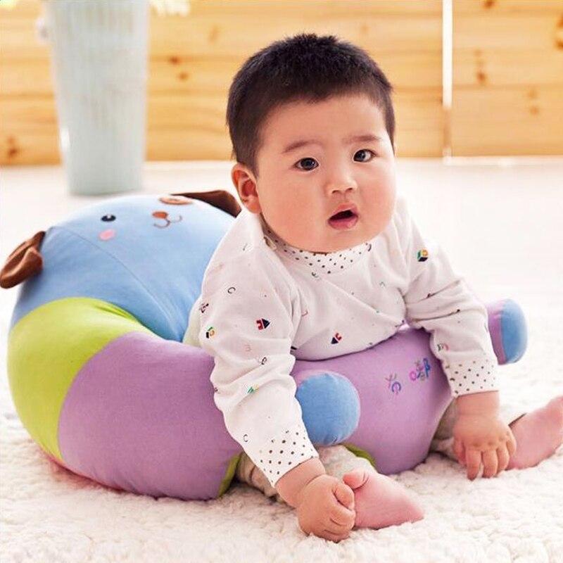 все цены на Baby Anti Rollover Safety Seat Portable Waist Stool Children Small Sofa Cartoon Plush Nursing Feeding Pillow Learn To Sit Sofa онлайн