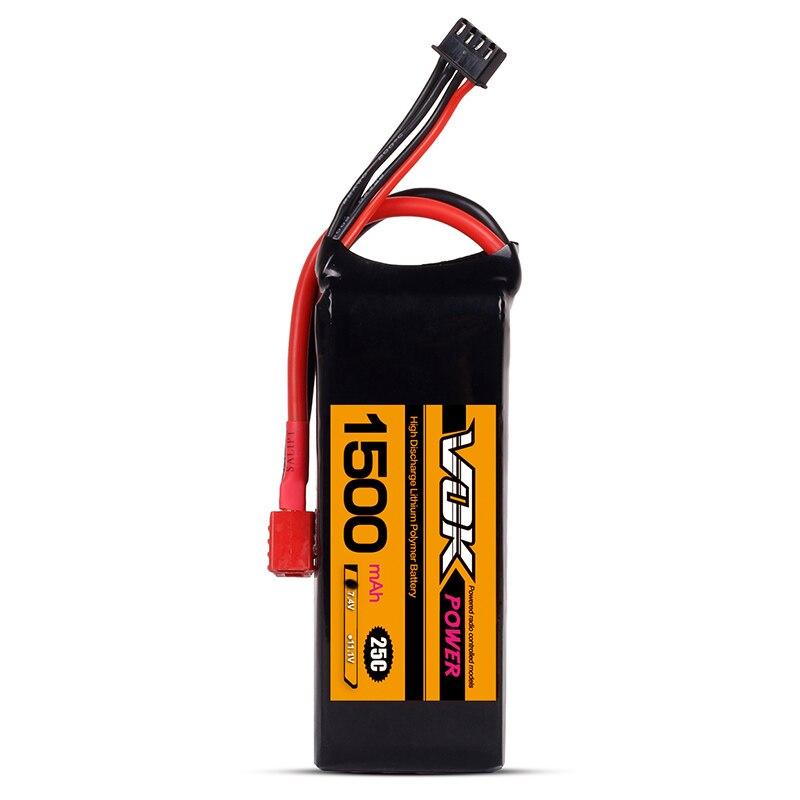 Mini Portable VOK 2 S Lipo Batterie 7.4 V 25C 1500 mAh T-Plug Bouchon De Décharge pour RC Racing Quadcopter Drone NOUVEAU