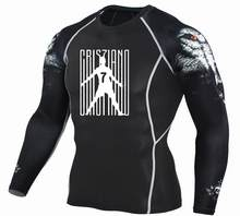 0ac05825f Cristiano Ronaldo 7 Men T Shirts Fashion 3D Teen Wolf Long Sleeve  Compression Shirt Bodybuilding Crossfit
