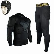 Мужские профессиональные футбольные брюки вратаря трикотажные изделия Survete Мужские t футбольные утолщенные EVA губчатая рубашка куртки форма для вратаря