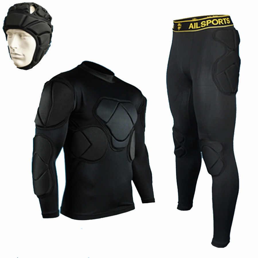 Camisa de goleiro profissional masculino, calças para futebol, engrossar, uniforme de goleiro, eva 2018