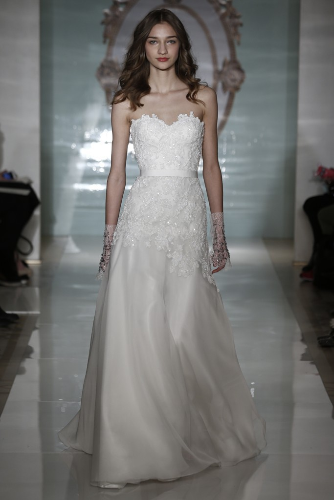 DAW3447 Simple Sweetheart A line Lace Appliqued Tulle Wedding Dress ...