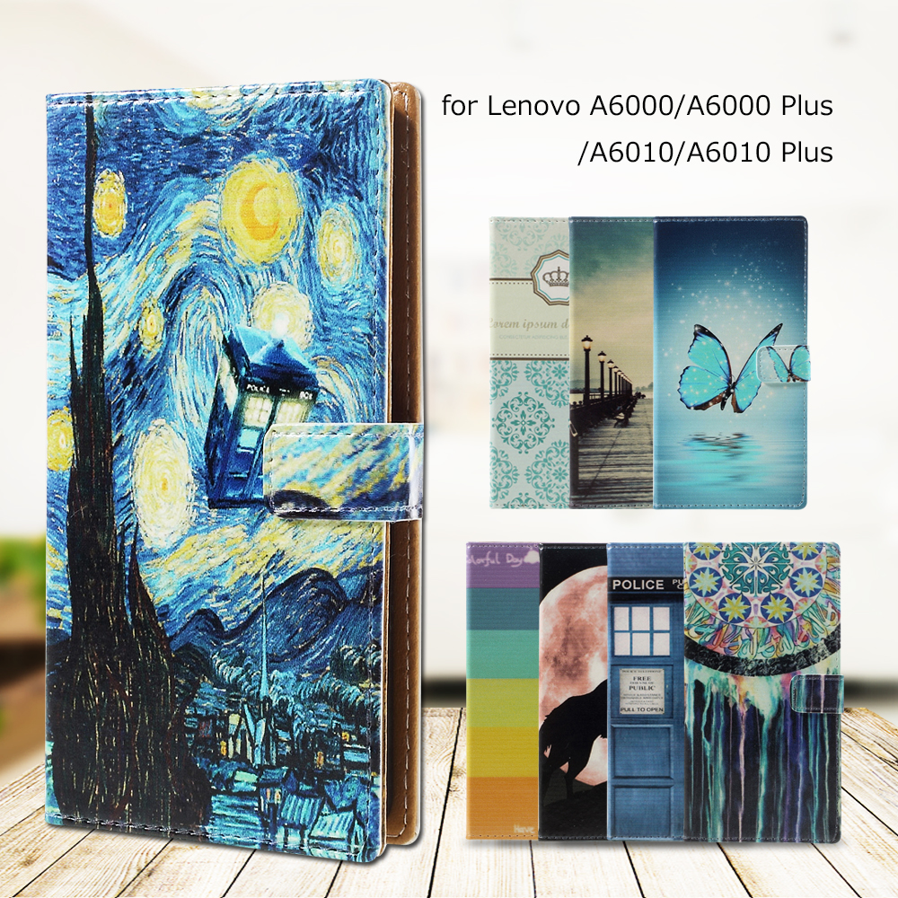 For Lenovo A6000 A6010 Phone Bag PU Leather Card Holder Case for Lenovo A 6000 A 6000 Plus A 6010 A 6010 Plus Cover