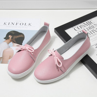 New Arrival Women Shoes Genuine Leather Spring Lovely Solid Women Flats Shoes 4 Colors Single Boat