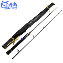 1.95m UL Spinning Rod 2 Tips Ultralight Carbon Soft Fishing Rod Lure Weight 1-5g Line Weight 2-6LB Pesca Peche Fishing Tackle