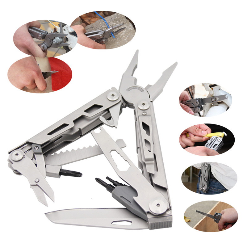 Купить с кэшбэком 26 in 1 Multifuncation pliers stainless steel outdoor folding EDC Survival multitool knife Durable Compact Portable pocket Knife