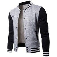 New Men Baseball Jacket Men 2018 Fashion Design Wine Red Mens Slim Fit College Varsity Jacket Men Brand Stylish