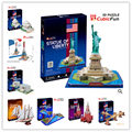Series C Cubicfun 3D Puzzle Building Golden Gate Bridge Chrysler Building Saint Patrick's Cathedral Statue of Liberty