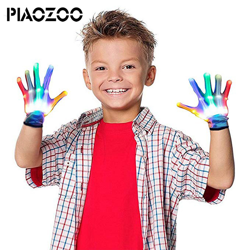 Luminous Toys Led Gloves Party Light Show Skeleton Halloween Gloves Multicolor Flashing Glove Clubs Lightshow Christmas Gift P20