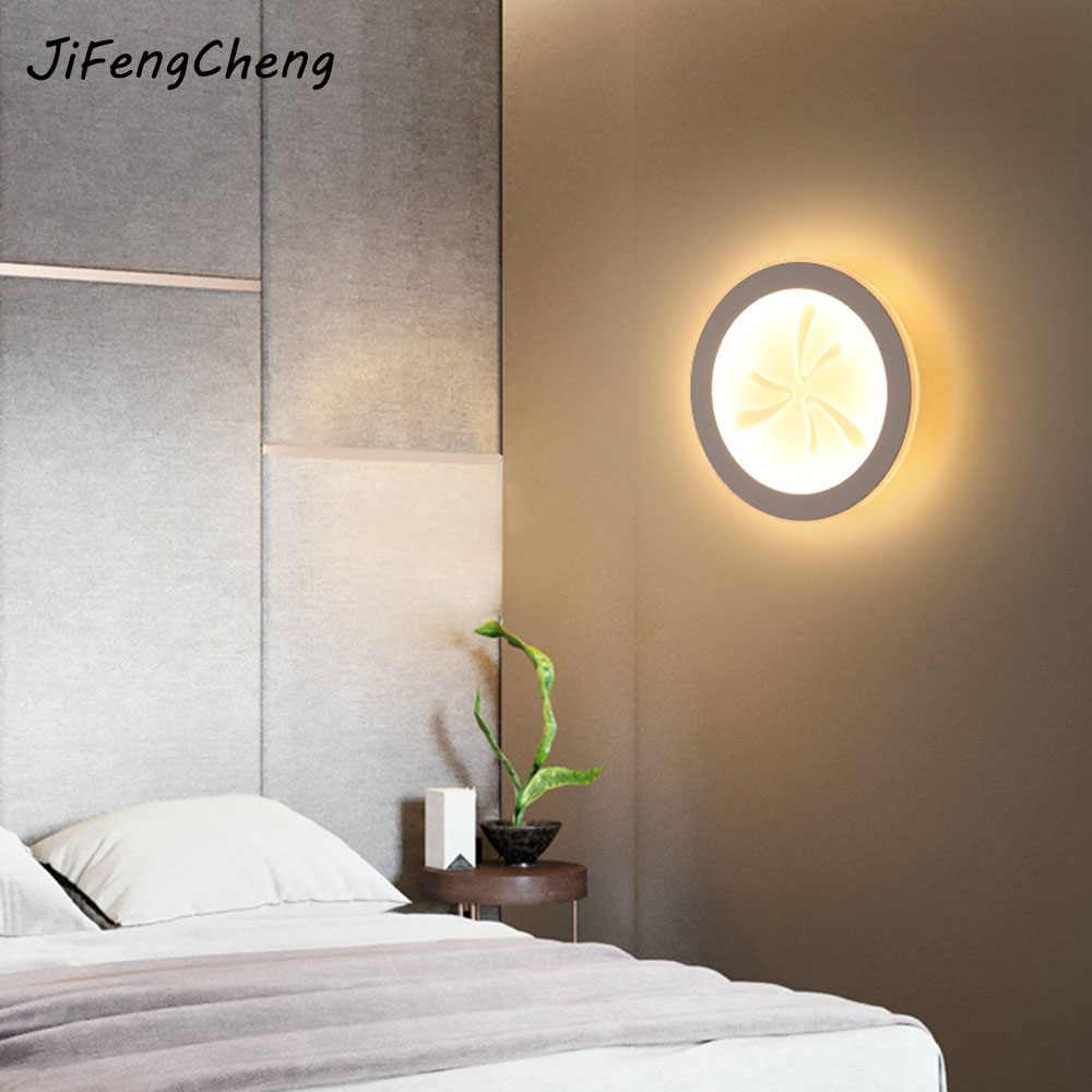 Luminaria Modern Minimalist Bedside Lamp Bedroom Wall Light 220V Personalized Acrylic Walkway Stairs Interior Lighting modern wall lamp glass ball led wall sconces bedside wall light fixture bedroom luminaria home lighting vintage lamp