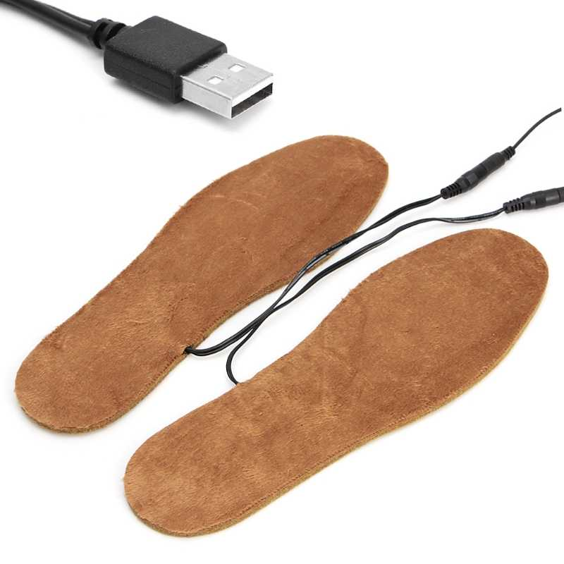 Yeni Sıcak USB Elektrikli Isıtmalı ayakkabı tabanlığı Botları Ayakları Sıcak Tutmak