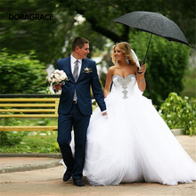 New Arrival Romantic Sweetheart Beaded Tulle Princess Wedding Gowns Designer Dresses DG0115