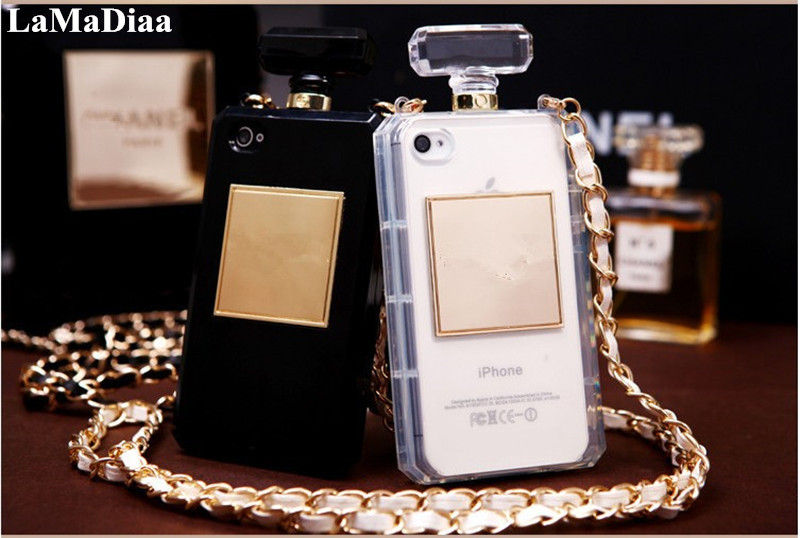 LaMaDiaa Hot High Puality Perfume Bottle Lanyard Chain TPU Case Handbag Case Cover For <font><b>Samsung</b></font> S20 S8 S9 <font><b>S10E</b></font> Note 10 Plus 8 9 image